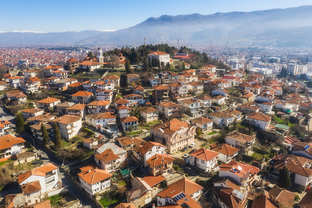 Aerial view of Ohrid, North Macedonia