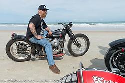 Bill Dodge on Daytona Beach during Daytona Bike Week 75th Anniversary event. FL, USA. Thursday March 3, 2016.  Photography ©2016 Michael Lichter.