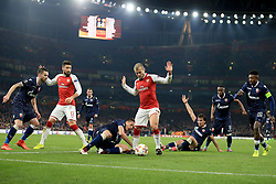 2 November 2017 -  UEFA Europa League (Group H) - Arsenal v Red Star Belgrade - Jack Wilshere and Olivier Giroud of Arsenal fail to win the ball - Photo: Marc Atkins/Offside