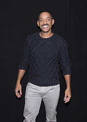 December 2, 2016 - New York, New York, U.S. - WILL SMITH promotes movie 'Collateral Beauty.' Willard Carroll 'Will' Smith Jr. (born September 25, 1968) is an American actor, producer, rapper, and songwriter. In April 2007, Newsweek called him 'the most powerful actor in Hollywood.' Smith has been nominated for five Golden Globe Awards and two Academy Awards, and has won four Grammy Awards. In the late 1980s, Smith achieved modest fame as a rapper under the name The Fresh Prince. In 1990, his popularity increased dramatically when he starred in the popular television series The Fresh Prince of Bel-Air. The show ran for six seasons (1990–96). Smith transitioned from television to film, and ultimately starred in numerous blockbuster films. He is the only actor to have eight consecutive films gross over $100 million in the domestic box office, eleven consecutive films gross over $150 million internationally, and eight consecutive films in which he starred open at the number one spot in the domestic box office tally. For his performances as boxer Muhammad Ali in Ali (2001) and stockbroker Chris Gardner in The Pursuit of Happyness (2006), Smith received nominations for the Academy Award for Best Actor. (Credit Image: © Armando Gallo via ZUMA Studio)