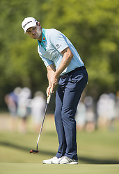 May 25, 2018 - Fort Worth, TX, USA - FORT WORTH, TX - MAY 25, 2018 - Justin Rose hits his putt on the 18th hole during the second round of the 2018 Fort Worth Invitational PGA at Colonial Country Club in Fort Worth, Texas (Credit Image: © Erich Schlegel via ZUMA Wire)