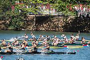 "Rio de Janeiro. BRAZIL.  GBR M8+ winning the gold medel at the  2016 Olympic Rowing Regatta. Lagoa Stadium,<br /> Copacabana,  ""Olympic Summer Games""<br /> Rodrigo de Freitas Lagoon, Lagoa.   Saturday  13/08/2016 <br /> <br /> [Mandatory Credit; Peter SPURRIER/Intersport Images]"