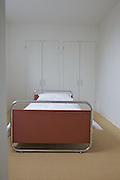 A bedroom at Warren House, Wayne McGregor's Dartington Estate home in Devon<br /> Vanessa Berberian for The Wall Street Journal