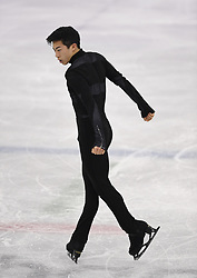 February 8, 2018 - Pyeongchang, South Korea - USA figure skater NATHAN CHEN competes, February 9, 2018, during the Mens Short Program Team event on opening day of the Figure Skating Team competition at the Winter Olympic Games in at the Gangneung Ice Arena in Pyeongchang, S. Korea. Chen finished in a surprise fourth place after his short program. Photo by Mark Reis, ZUMA Press/The Gazette (Credit Image: © Mark Reis via ZUMA Wire)