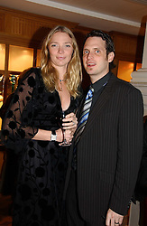 Model JODIE KIDD and her husband AIDEN BUTLER at the Holders Season Barbados Comes to London night at the Landmark Hotel, Marylebone Rd, London on 1st February 2007.<br /><br />NON EXCLUSIVE - WORLD RIGHTS