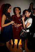 CAMILLA AL FAYAD, LARA BOHINC AND HANNAH BHUIYA, Art Plus Music party. Fundraiser for the Whitechapel. 30 March 2006. ONE TIME USE ONLY - DO NOT ARCHIVE  © Copyright Photograph by Dafydd Jones 66 Stockwell Park Rd. London SW9 0DA Tel 020 7733 0108 www.dafjones.com
