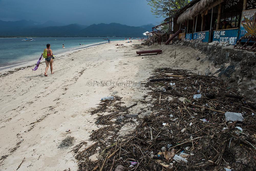 Plastic Trash<br /> Gili Air Island<br /> West Nusa Tenggara <br /> Lesser Sunda Islands<br /> Indonesia