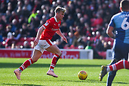 Cameron McGeehan of Barnsley (8) in action during the EFL Sky Bet League 1 match between Barnsley and Wycombe Wanderers at Oakwell, Barnsley, England on 16 February 2019.