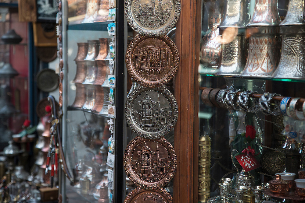Shops in the Bascarsija neighborhood of Sarajevo, BiH.<br /> <br /> Matt Lutton for the European Commission