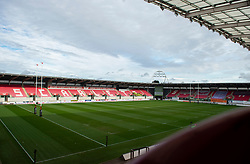General view inside Parc y Scarlets Guinness PRO14, Parc y Scarlets, Llanelli, UK 23/02/2020<br /> Scarlets vs Isuzu Southern Kings<br /> <br /> Mandatory Credit ©INPHO/Alex James