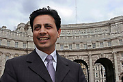 Waqar Azmi OBE, Chief diversity adviser at the Cabinet Office stands in front of Admiralty Arch on The Mall in London.