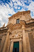 Saint Ignatius Church, old town Dubrovnik, Dalmatian Coast, Croatia