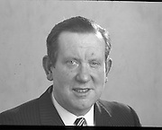 Paudraig Faulkner. .1971..08.06.1971..06.08.1971..8th June 1971..Portrait of The Minister for Education and Louth TD, Mr Paudraig Faulkner.