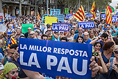 Protest in Barcelona against Terror