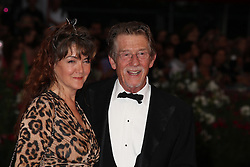 January 28, 2017 - Venise, Italie - JOHN HURT AND HIS WIFE AT THE PREMIERE OF THE FILM 'TINKER, TAILOR, SOLDIER, SPY' - 68TH INTERNATIONAL VENICE FILM FESTIVAL ''LA TAUPE' (Credit Image: © Visual via ZUMA Press)