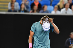 January 19, 2019 - Melbourne, Australia - Australian Open - Lucas Pouille - France (Credit Image: © Panoramic via ZUMA Press)