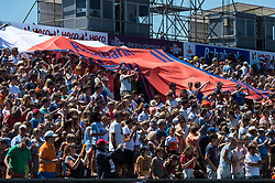 supporters of The Netherlands during the Champions Trophy finale between the Netherlands and Argentina on the fields of BH&BC Breda on Juli 1, 2018 in Breda, the Netherlands.