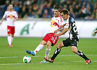 Red Bull Salzburg vs SK Sturm Graz.  Bild zeigt Valon Berisha (RBS) und Tobias Kainz (Sturm).<br /> 02 November 2013