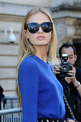 Romee Strijd arriving at the Giambattista Valli show as a part of Paris Fashion Week Ready to Wear Spring/Summer 2017 in Paris, France on October 03, 2016. Photo by Aurore Marechal/ABACAPRESS.COM