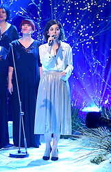 Katie Melua (right) and the Gori Women's Choir appearing on the Graham Norton Show filmed at the London Studios. London, which will be transmitted on BBC One on December 23.