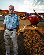 Mathew Northway and his Interstate Cadet, NC37369, at Creswell Airport.