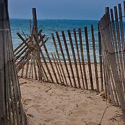 Beach fence in Falmouth, Cape Cod