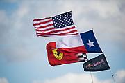 October 19-22, 2017: United States Grand Prix. Atmosphere at COTA, American flag, texas flag, ferrari flag