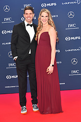 February 18, 2019 - Monaco, Monaco - Missy Franklin and Hayes Johnson arriving at the 2019 Laureus World Sports Awards on February 18, 2019 in Monaco  (Credit Image: © Famous/Ace Pictures via ZUMA Press)