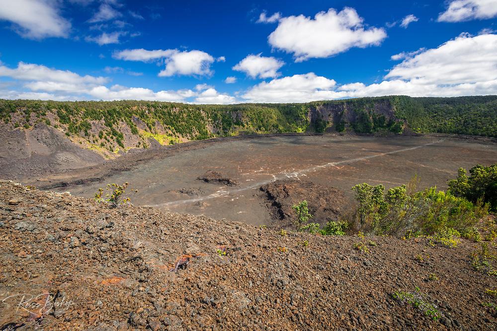 Kilauea Iki crater, Hawaii Volcanoes National Park, Hawaii USA