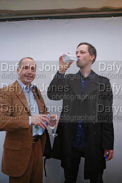 Mario Kramer and Andreas Slominski. Andreas Slominski private view and dinner after wards at Pacha. Gloucester Place. London. 24 April 2005. ONE TIME USE ONLY - DO NOT ARCHIVE  © Copyright Photograph by Dafydd Jones 66 Stockwell Park Rd. London SW9 0DA Tel 020 7733 0108 www.dafjones.com