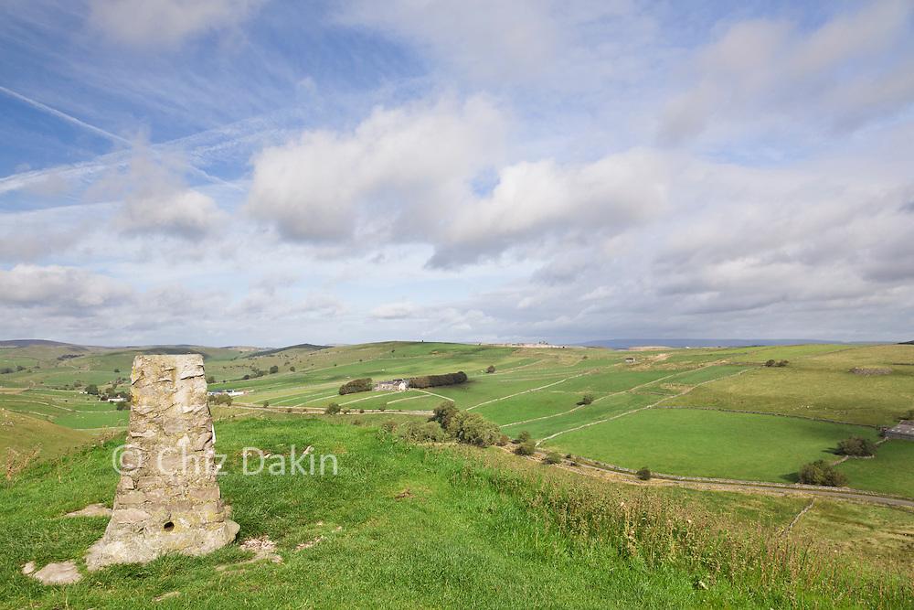 Summit of High Wheeldon, looking north-east towards Hindlow Quarry