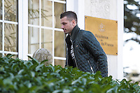 Morgan Schneiderlin  - 23.03.2015 -Equipe de France - Arrivee des joueurs a Clairefontaine<br />Photo : Andre Ferreira / Icon Sport