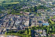 Nederland, Noord-Holland, Gemeente Purmerend, 13-06-2017; overzicht historisch centrum Purmerend, Koepelkerk, Koemarkt.<br /> Purmerend, small city north of Amsterdam, historical market town.<br /> <br /> luchtfoto (toeslag op standard tarieven);<br /> aerial photo (additional fee required);<br /> copyright foto/photo Siebe Swart