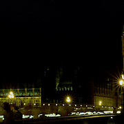 A Panoramic view of London at night time showing Big Ben and the Houses of Parliament viewed from the South Bank of the Thames on April 23, 2007 Photo Tim Clayton