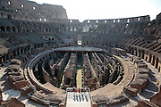 Colosseum - interior detail of arena substructure, Rome, Italy, Frommer's Italy Day By Day