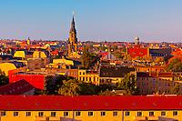 Overview of the skyline, Leipzig, Saxony, Germany