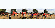 'Africa Drive-by' a photo book published in 2017. <br /> <br /> The images were captured from the back of police motorcades and security vehicles in eight southern African countries in spring and summer, 2017.<br /> <br /> Photo shows: Centre spread from Malawi.<br /> <br /> It was self-published the same year in an edition of 250.