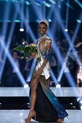 December 8, Atlanta, Georgia, USA: ZOZIBINI TUNZI, Miss South Africa 2019 is crowned Miss Universe at the conclusion of at Tyler Perry Studios in Atlanta. The new winner will move to New York City where she will live during her reign and become a spokesperson for various causes alongside The Miss Universe Organization.  (Credit Image: ? Miss Universe Organization/ZUMA Wire/ZUMAPRESS.com)