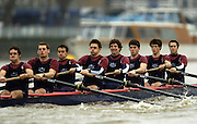 2004_Oxford University Trail Eights, Putney, London:ENGLAND. 14.12.04. Crew list. OUBC [right to left].Indians [Middlx].Bow Jamie Anderson, Nick Thomas-Peter, Robin Esmond-Frej, Jo Von Maltzahn, Peter Reed, Colin Smith, Robin Bourne-Taylor [President] Barney Williams. and cox Nick Brodie..Cowboys [Surrey]..Photo Peter Spurrier.email images@intersport-images.com. ...........[Mandatory Credit Peter Spurrier/ Intersport Images] Varsity:Boat Race, Rowing Course: River Thames, Championship course, Putney to Mortlake 4.25 Miles