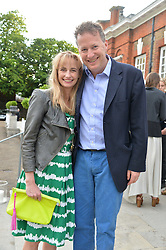 ORLANDO & CLEMENTINE FRASER at The Ralph Lauren & Vogue Wimbledon Summer Cocktail Party at The Orangery, Kensington Palace, London on 22nd June 2015.  The event is to celebrate ten years of Ralph Lauren as official outfitter to the Championships, Wimbledon.