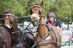 Chester Weber, (USA), Boris W, Boy W, Para, Splash, Uniek - Driving Marathon - Alltech FEI World Equestrian Games™ 2014 - Normandy, France.<br /> © Hippo Foto Team - Becky Stroud<br /> 06/09/2014