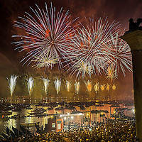 Fireworks for the Redentore Celebration in Venice<br /> <br /> HOW TO LICENCE THIS PICTURE: please contact us via e-mail at sales@xianpix.com or call our office in London +44 (0)207 1939846 for prices and terms of copyright. First Use Only ,Editorial Use Only, All repros payable, No Archiving.© MARCO SECCHI