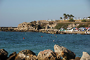 The natural bay, used by the Romans to harbour their fleet, now used for rest and recreation, Caesarea, Israel.