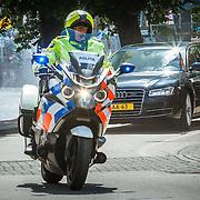NLD/Den Haag/20150520 - Motorpolitie begeleiding Koninklijke Huis