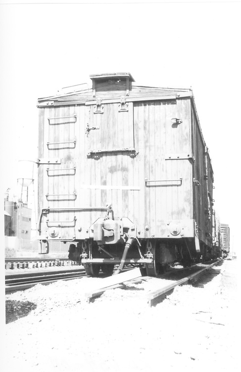 """""""A"""" end view of box car #3620<br /> D&RGW"""