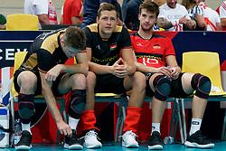 23-09-2019 NED: EC Volleyball 2019 Poland - Germany, Apeldoorn<br /> 1/4 final EC Volleyball - Poland win 3-0 / Julian Zenger #10 of Germany, Denys Viktorovic Kaliberda #6 of Germany