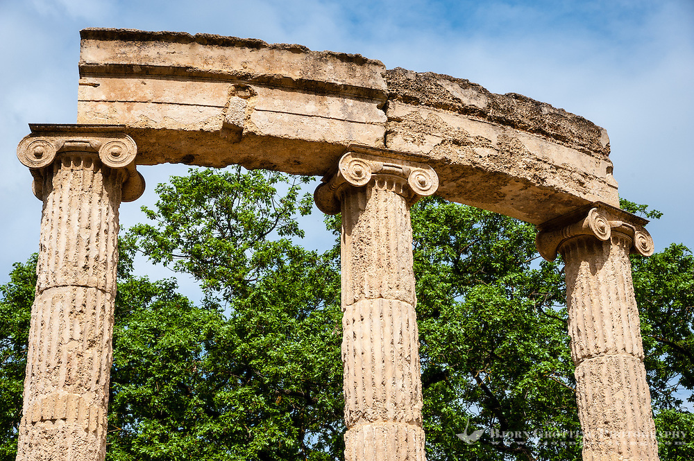 Olympia, Greece. The site of the Olympic Games in classical times. The Philippeion.