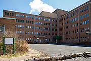 March 27, 2020 -- The former Ashland State Hospital sits empty as the COVID-19 pandemic sweeps across Pennsylvania. The hospital opened in 1883 as the State Hospital for Injured Persons of the Anthracite Coal Region at Fountain Springs and became the Ashland State General Hospital in 1967. The state divested in 1992 and it became the Ashland Regional Medical Center. In 2006 Saint Catherine's Hospital of Pennsylvania bought the property and operated as the Saint Catherine's Medical Center at Fountain Springs. The hospital has been vacant since Saint Catherine's closed in 2012.