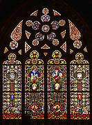 Witraż w Kaplicy Świętej Trójcy w Katedrze na Wawelu.<br /> Stained glass in the Chapel of the Holy Trinity at the Wawel Cathedral.