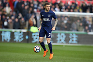 Kieran Trippier of Tottenham Hotspur in action. The Emirates FA Cup, quarter-final match, Swansea city v Tottenham Hotspur at the Liberty Stadium in Swansea, South Wales on Saturday 17th March 2018.<br /> pic by  Andrew Orchard, Andrew Orchard sports photography.